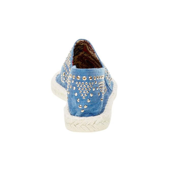 Dámská obuv typu Espadrilles bata, modrá, 559-9401 - 17