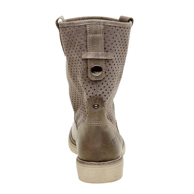 Dámské boty z broušené kůže weinbrenner, hnědá, 596-9102 - 17