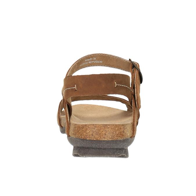 Dámské kožené sandály weinbrenner, hnědá, 566-4102 - 17