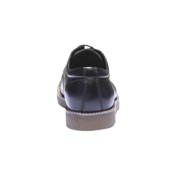 Polobotky z kůže bata, černá, 824-6197 - 17