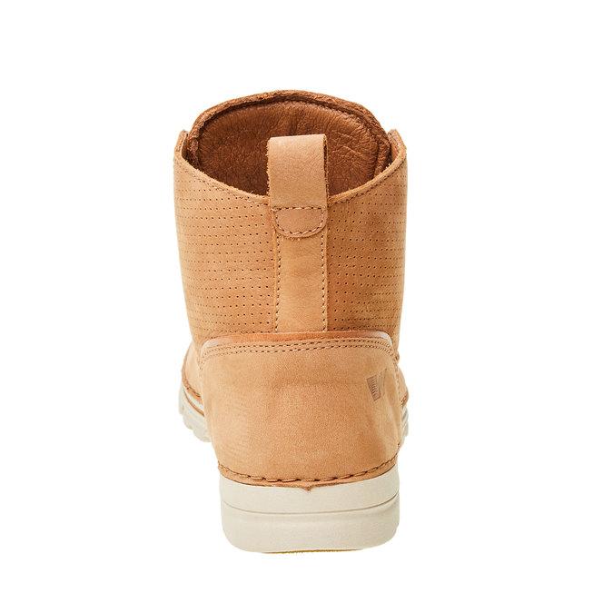 Kožené kotníčkové boty weinbrenner, hnědá, 594-3531 - 17
