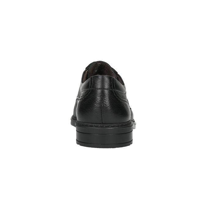 Kožené polobotky fluchos, černá, 824-6627 - 17