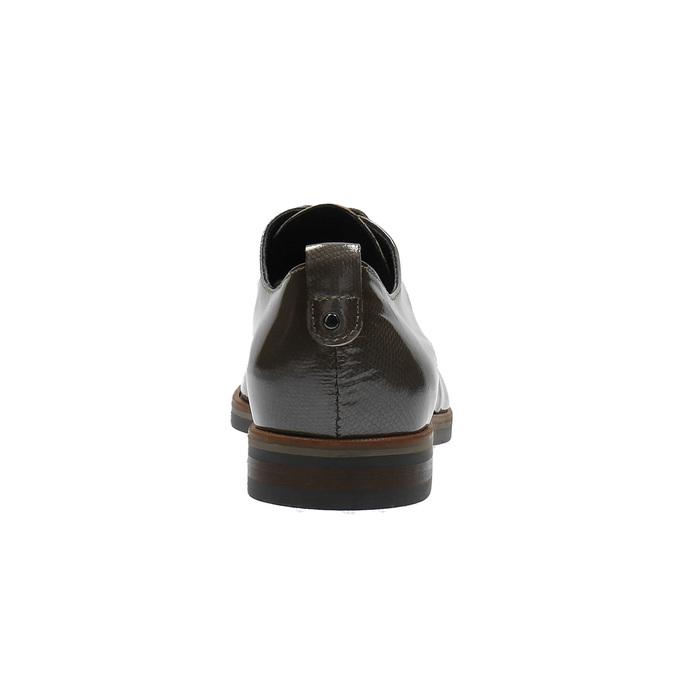 Dámské kožené polobotky bata, hnědá, 528-2600 - 17