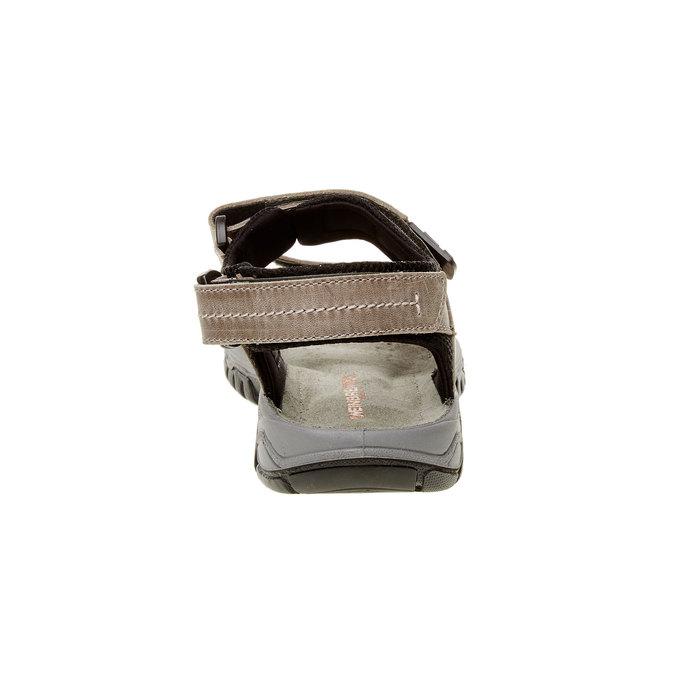 Pánské kožené sandály weinbrenner, hnědá, 866-6107 - 17