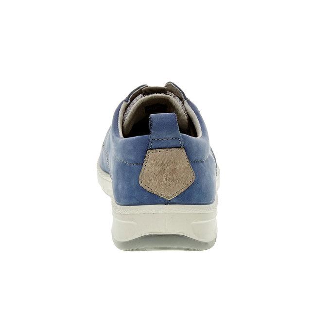 Ležérní kožené polobotky, modrá, 843-9630 - 17