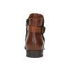 Kožená kotníčková obuv s přezkou bata, hnědá, 594-4602 - 17