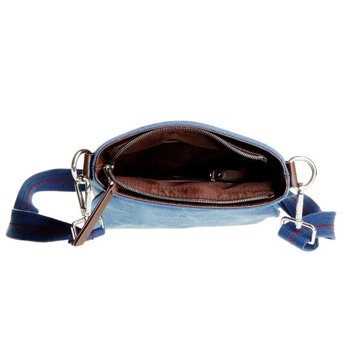 Pánská Crossbody taška s klopou bata, modrá, 969-9284 - 15