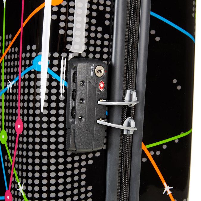Skořepinový kufr s barevným potiskem american-tourister, černá, 960-6105 - 17