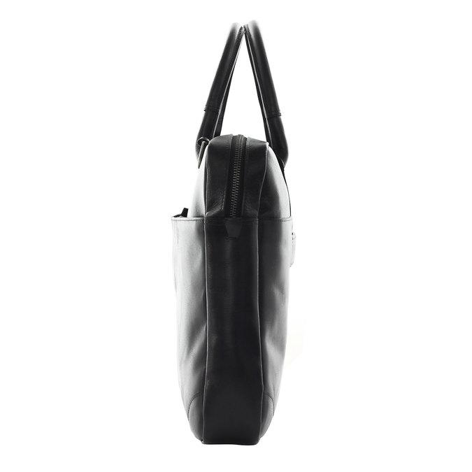 Kožená taška s popruhem royal-republiq, černá, 964-6199 - 17