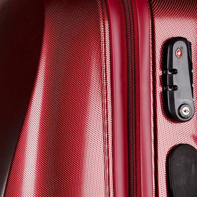Skořepinový kufr na kolečkách carlton, červená, 960-5102 - 17