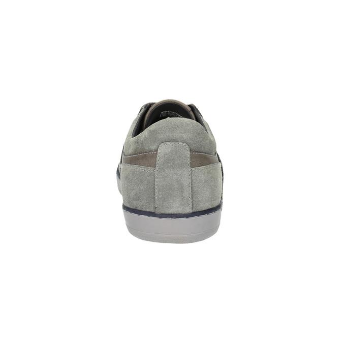 Kožené tenisky s prodyšnou podešví geox, šedá, 823-2033 - 17