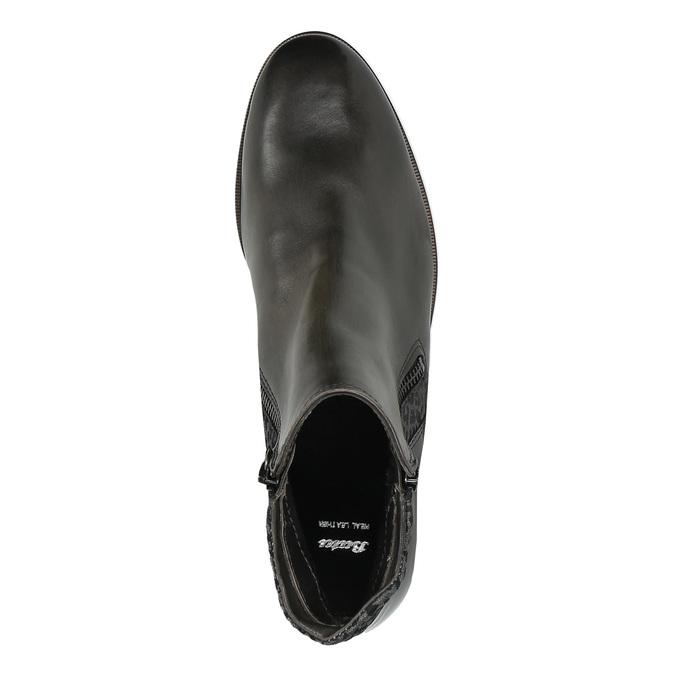 Kožená kotníčková obuv se zipy bata, černá, 596-6605 - 19