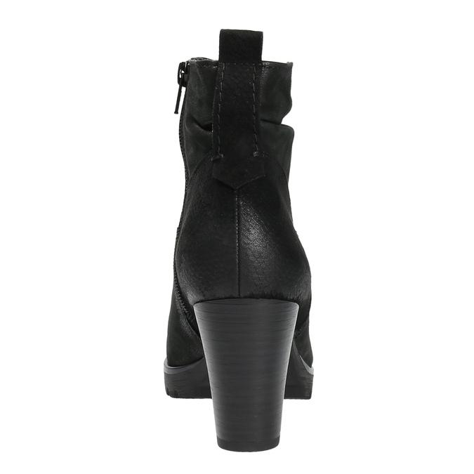 Dámská kotníčková obuv bata, černá, 796-6600 - 17