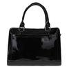 Černá kabelka se zlatými detaily bata, černá, 961-6610 - 19