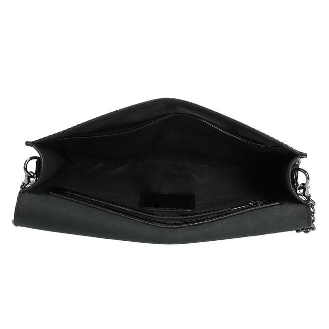 Černé dámské psaníčko v lakované úpravě bata, černá, 961-6624 - 15