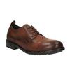 Pánské kožené polobotky v ležérním designu bata, hnědá, 826-4732 - 13