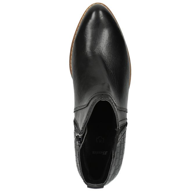 Dámská kotníčková obuv šíře H bata, černá, 696-6616 - 19