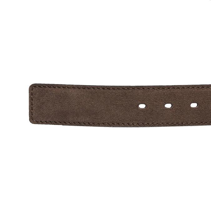 Kožený pánský opasek bata, hnědá, 953-4106 - 16