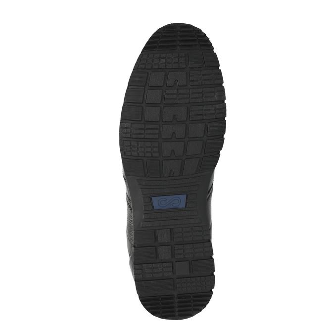 Ležérní kožené polobotky černé bata, černá, 826-6652 - 26