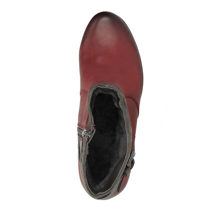 Dámská kotníčková obuv se zateplením bata, červená, 696-5617 - 19