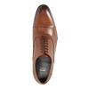 Hnědé kožené polobotky v Oxford střihu bata, hnědá, 824-3680 - 19