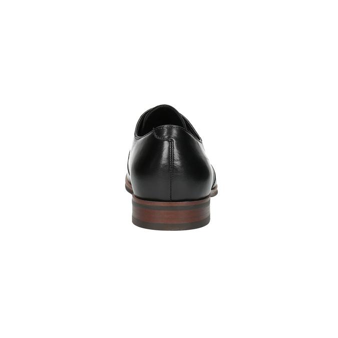 Černé kožené polobotky s ležérní podešví bata, černá, 824-6679 - 17
