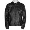 Pánská černá kožená bunda bata, černá, 974-6142 - 13