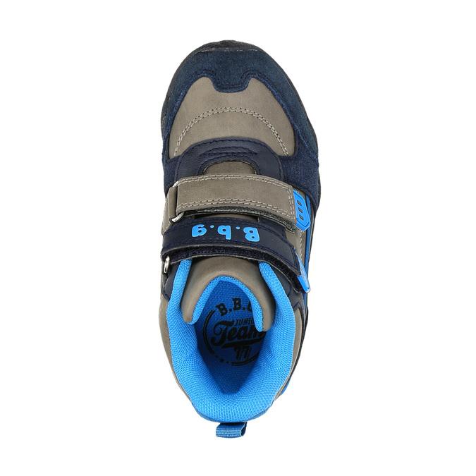 Chlapecká kotníčková obuv na suché zipy bubblegummer, modrá, 291-2600 - 19