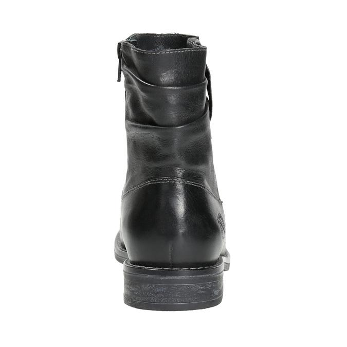 Dámská kožená kotníčková obuv bata, černá, 594-6611 - 17