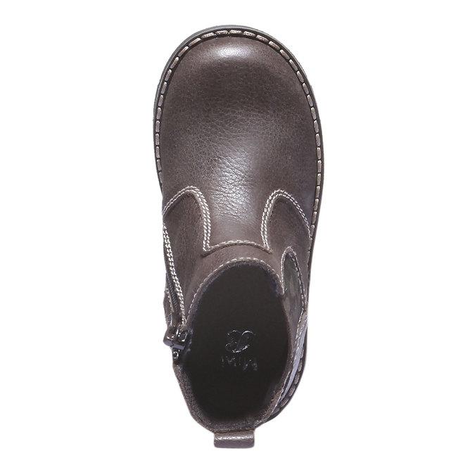 Dětské vysoké kožené boty mini-b, 2019-214-4137 - 19