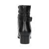Kožené kotníčkové kozačky na nízkém podpatku bata, černá, 694-6630 - 17