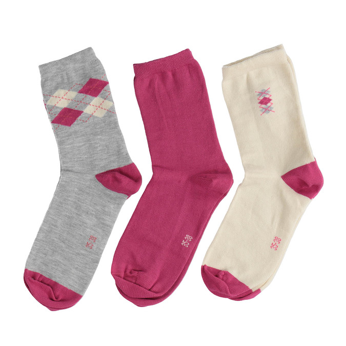 Dětské ponožky 3 páry bata, 919-0496 - 26