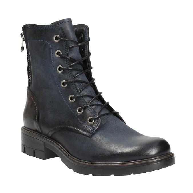 Kožená kotníčková obuv modrá bata, modrá, 596-9616 - 13