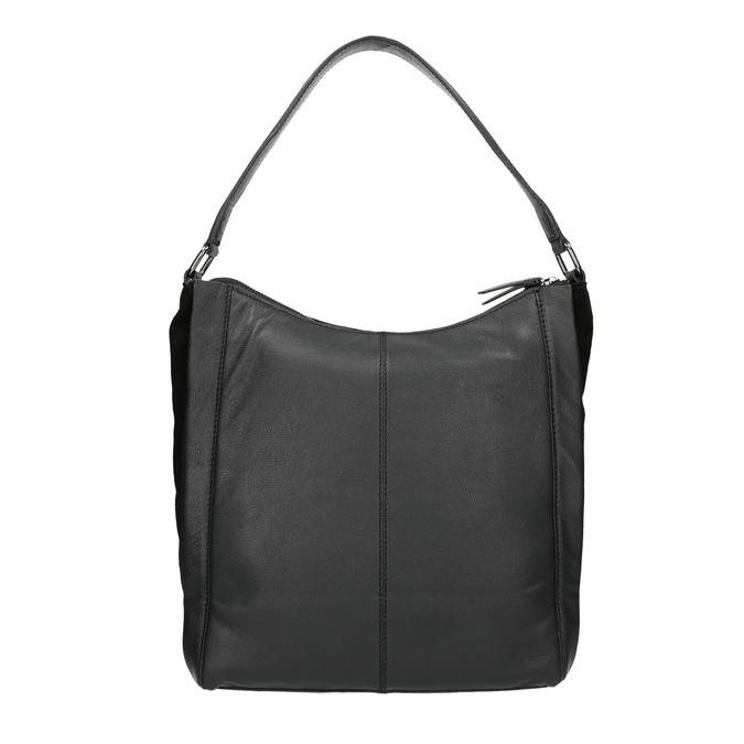 Kožená kabelka v Hobo stylu černá bata, černá, 964-6254 - 19