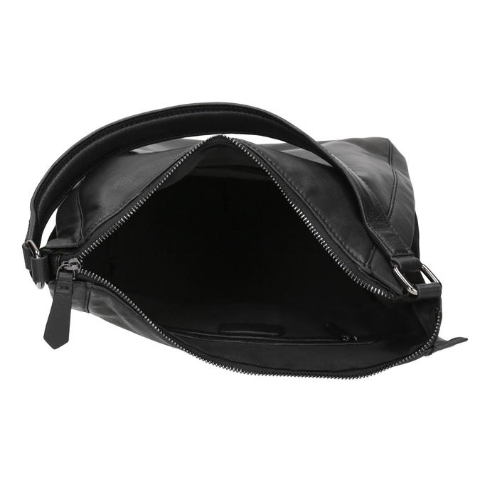 Kožená kabelka v Hobo stylu černá bata, černá, 964-6254 - 15