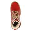 Kožená kotníčková obuv na průhledné podešvi weinbrenner, červená, 598-5602 - 19