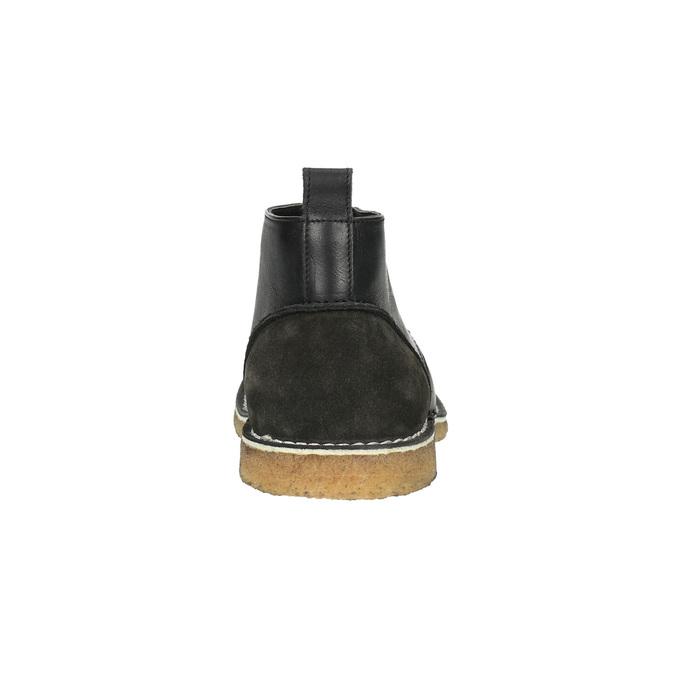 Kožené Chukka Boots bata, černá, 824-6665 - 17