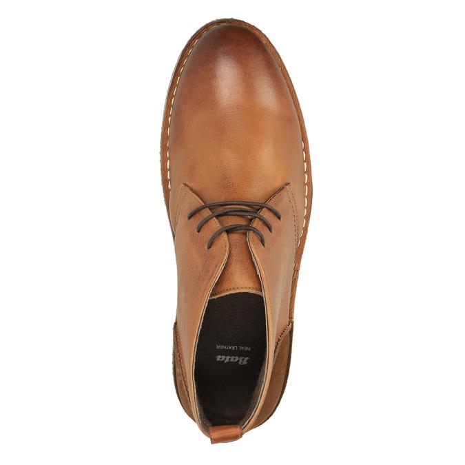 Kožené Chukka Boots bata, hnědá, 824-3665 - 19