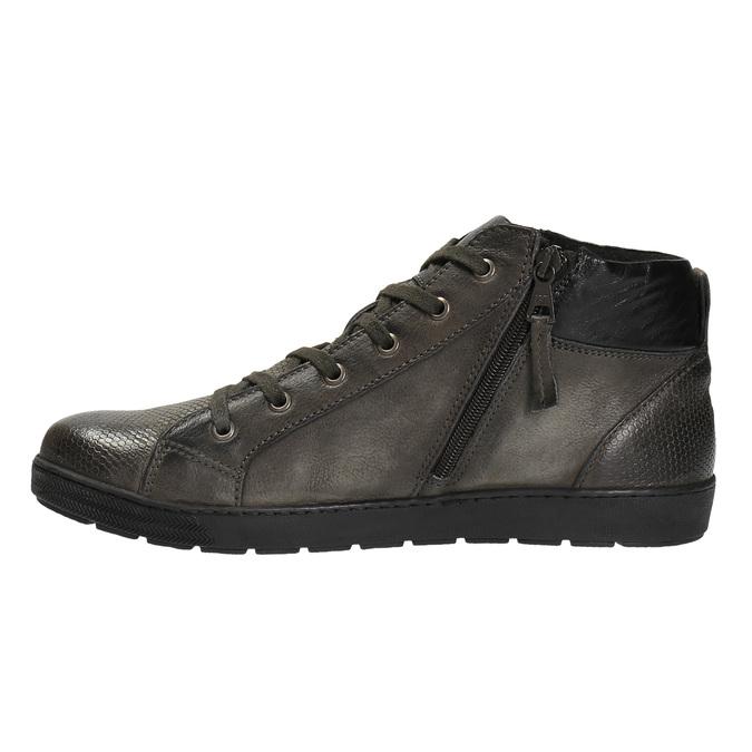 Pánská kotníčková obuv kožená bata, šedá, 846-2602 - 26