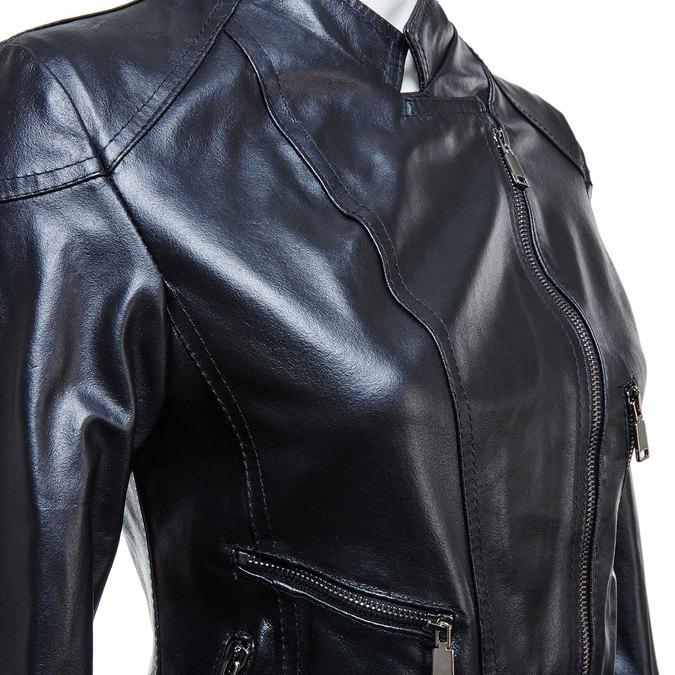 Dámská kožená bunda se zipy bata, černá, 974-6162 - 16