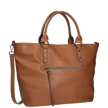 Hnědá dámská kabelka bata, hnědá, 961-3857 - 13