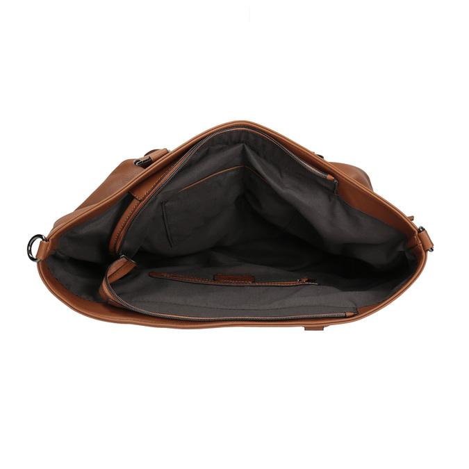 Hnědá dámská kabelka bata, hnědá, 961-3857 - 15