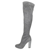 Dámské kozačky nad kolena bata, šedá, 799-2606 - 26