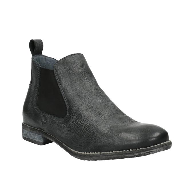 Kožené Chelsea Boots bata, černá, 596-6641 - 13
