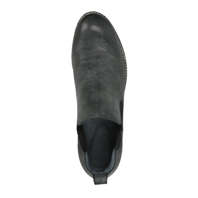 Kožené Chelsea Boots bata, černá, 596-6641 - 19