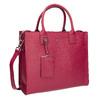 Kožená červená kabelka picard, růžová, 966-5011 - 13