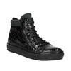 Kožené kotníčkové tenisky se zipy bata, černá, 546-6600 - 13