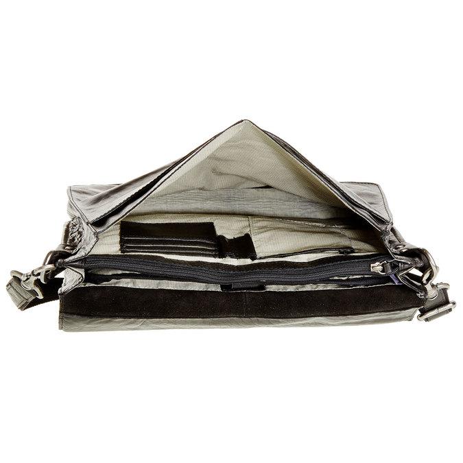 Kožená aktovka bata, černá, 964-6138 - 15