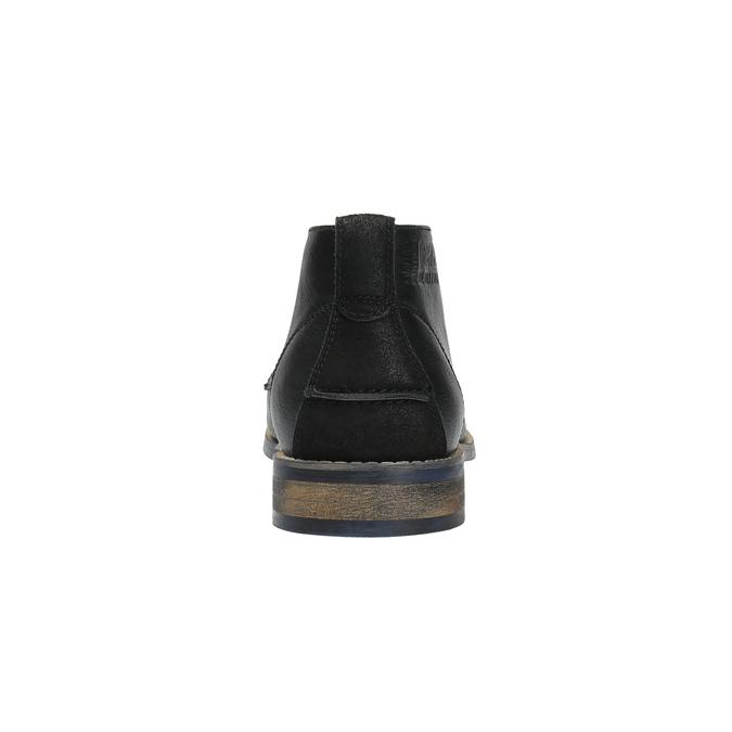 Pánská kotníčková obuv černá bata, černá, 891-6600 - 17