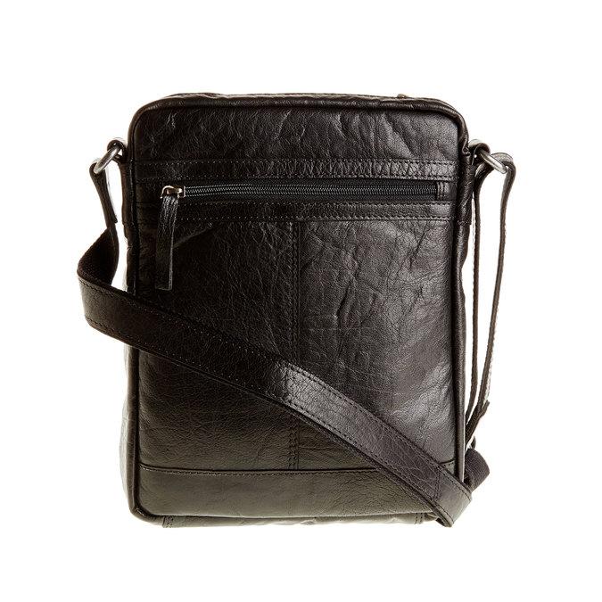 Kožená  Crossbody taška bata, černá, 964-6180 - 26